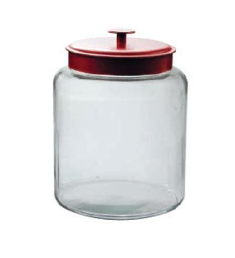 2 Gallon Montana Glass Jar w/Red Metal Lid   Candy Jars