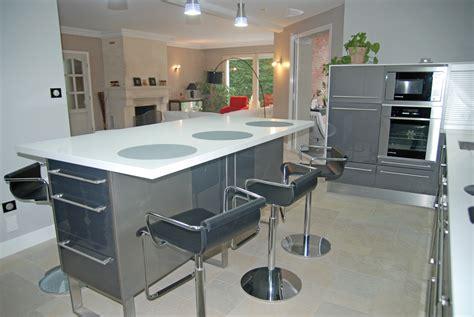 table meuble cuisine meuble de cuisine en verre table et plateau en verre
