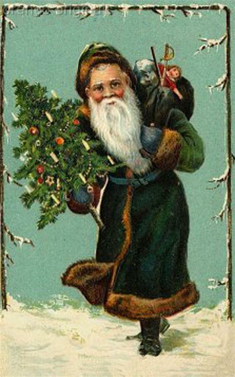 victorian father christmas santa claus  antique card