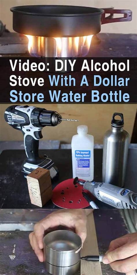 diy alcohol stove   dollar store water bottle urban