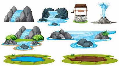 Water Vector Illustration Isolated Element Clipart River