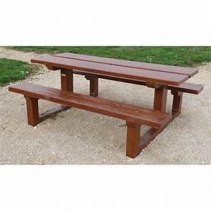 Table Beton Bois : table beton bois dessus de table de terrasse en beton en ~ Premium-room.com Idées de Décoration