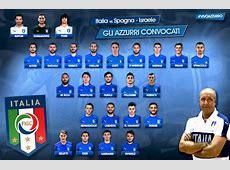 Itália divulga lista de convocados para jogos das