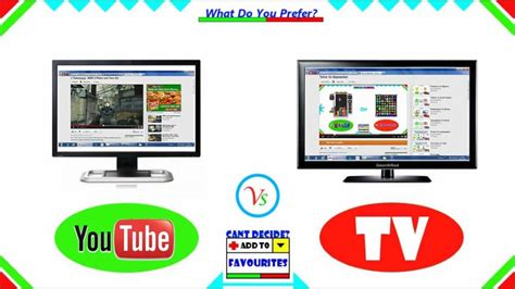 tv and computer youtube computer vs tv youtube