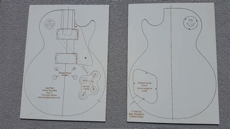 laser cut l template les paul guitar template laser cut ebay