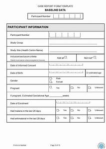case report form template clinical trialscase report form With case report form template clinical trials