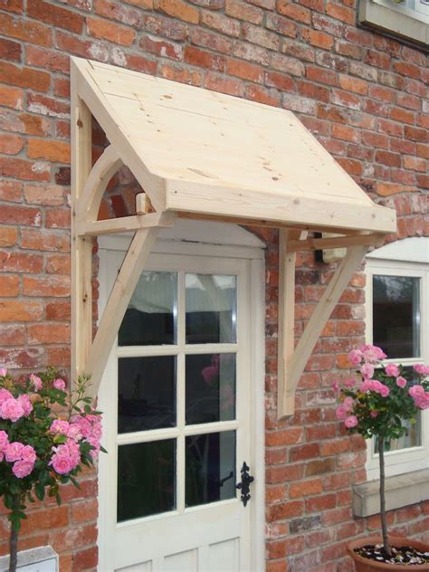timber front door canopy lean  mono pitch ellesmere