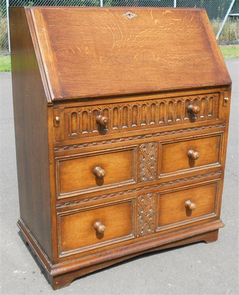 oak writing bureau uk jacobean style oak writing bureau