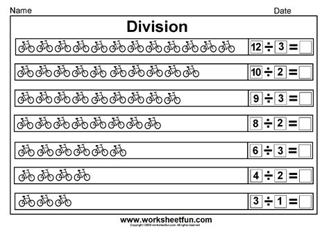 division worksheets second grade division