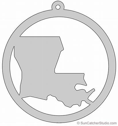 Louisiana Outline State Shape Map Scroll Saw