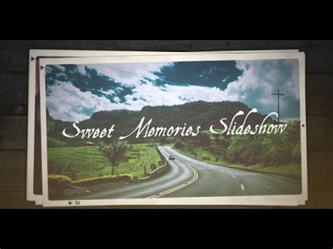 free after effects slideshow templates free after effects cs5 template sweet memories slideshow