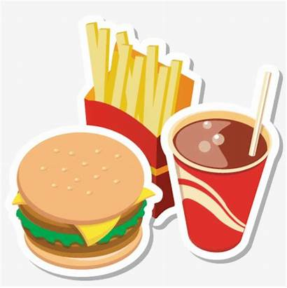 Junk Clipart Transparent Fast Burger Drawing Chips