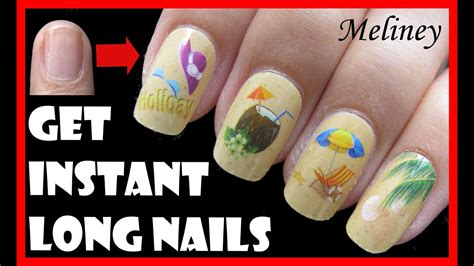 instant long nails  short nails easy beach