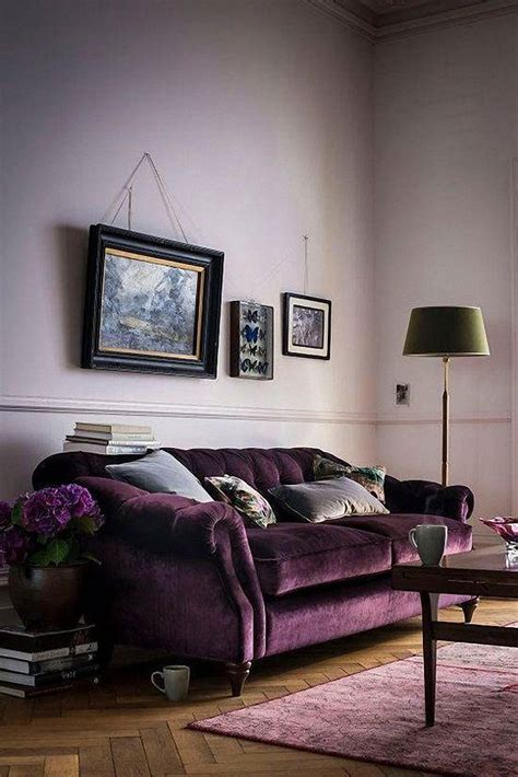 Living Room With Purple Sofa by 12 Royally Purple Velvet Sofas For The Living Room