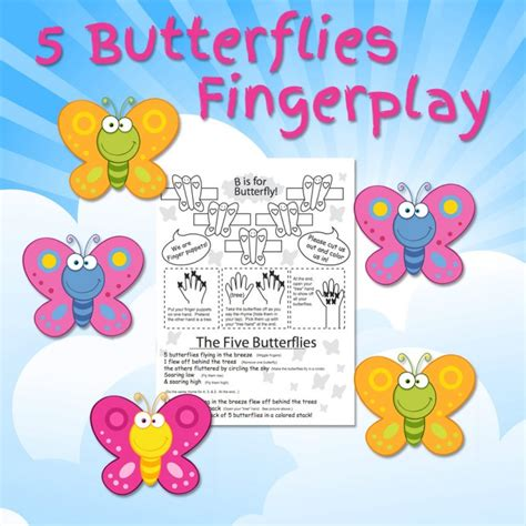fingerplay the five butterflies kidcourseskidcourses 212 | butterfly fingerplay free fun for kids 720x720