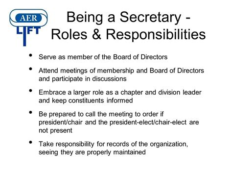 the roles and responsibilities of and treasurer