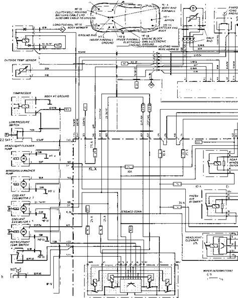 944 Porsche Ac Wiring Diagram by Wiring Diagram Type 944944 Turbo 944 S Model 87 S