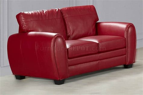 Contemporary Leather Loveseat by Bonded Leather Contemporary Sofa Loveseat Set W Options