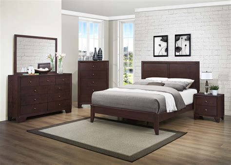 homelegance kari bedroom warm brown cherry b2146 bed at homelement