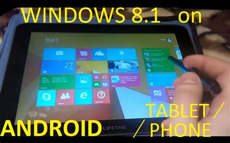 how to install windows 8 1 on android tablet phone toutorial