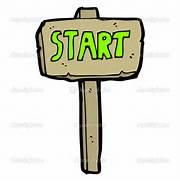 Start sign cartoon    ...
