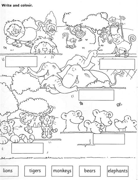zoo animal worksheets for preschoolers zoo animals