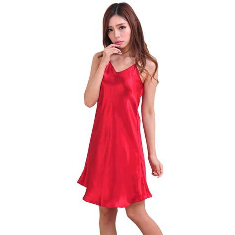 foto de 2019 Women Silk Satin Sleep Dress Babydoll Nightdress