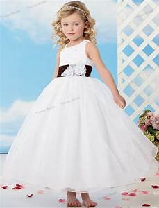 2015 free shipping white flower girl dress ball gown for Childrens wedding dresses