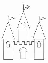 Castle Coloring Pages Printable Template Outline Colouring Princess Drawing Sand Print Cinderella Sheet Preschool sketch template