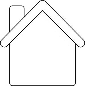Gingerbread House Outline Clip Art