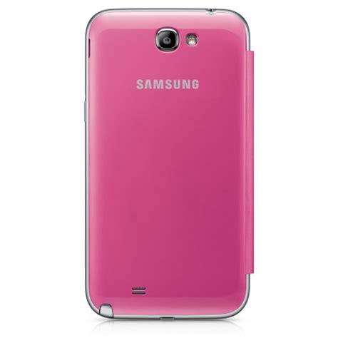 Silikon Pink Samsung Note 2 flip cover officielle samsung galaxy note 2 efc 1j9fpegstd