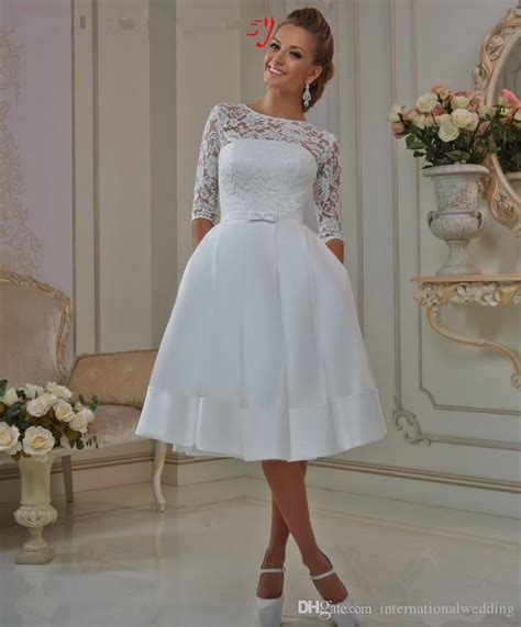 discount sheer lace short styles wedding dress