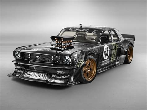 mustang modified ken block s wildly modded 65 mustang puts out a
