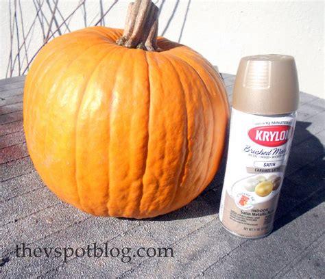 how to paint pumpkins spray painted metallic pumpkins take halloween pumpkins into thanksgiving the v spot