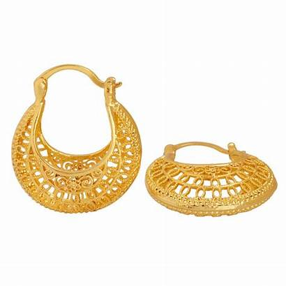 Gold Earrings Middle East Jewelry African Arab