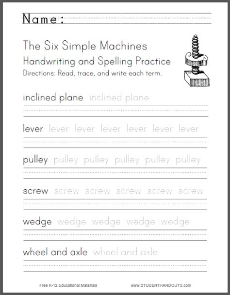 the six simple machines are the 1 inclined plane 2