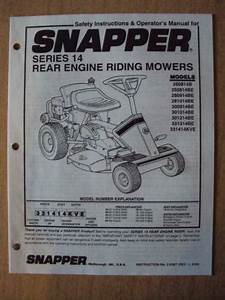 Snapper Riding Mower Manual