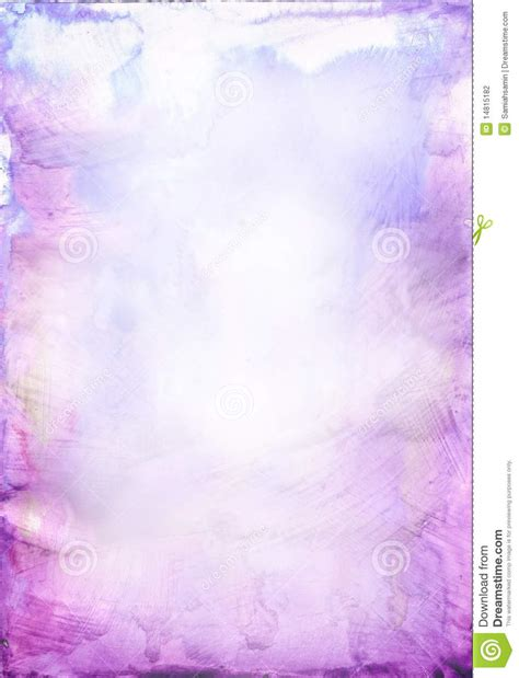 Comp Backgrounds Beautiful Watercolor Background In Soft Purple Stock