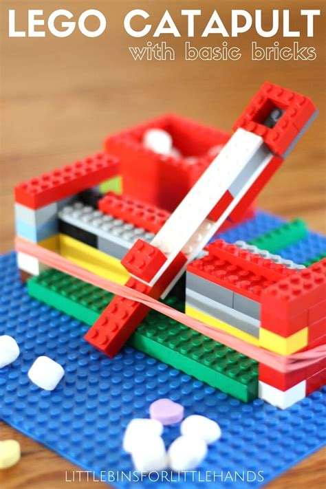 lego catapult play easy experiment building science tension band experiments rubber activity football week stem learning littlebinsforlittlehands
