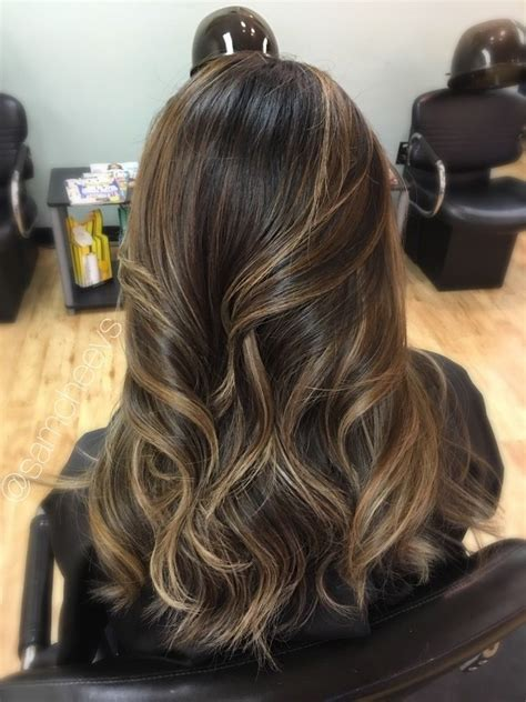 Brown Hair Or Black Hair by Highlights For Hair Light Brown Highlights For