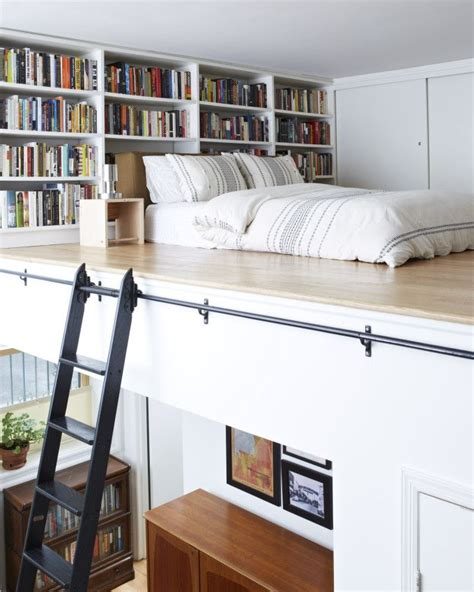 The 25  best Mezzanine bed ideas on Pinterest   Stair drawer, Stairs in small spaces and Small