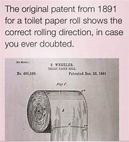 Image result for original pantent for toilet paper