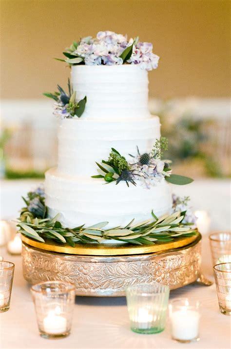 Three Tier Combed Buttercream Wedding Cake
