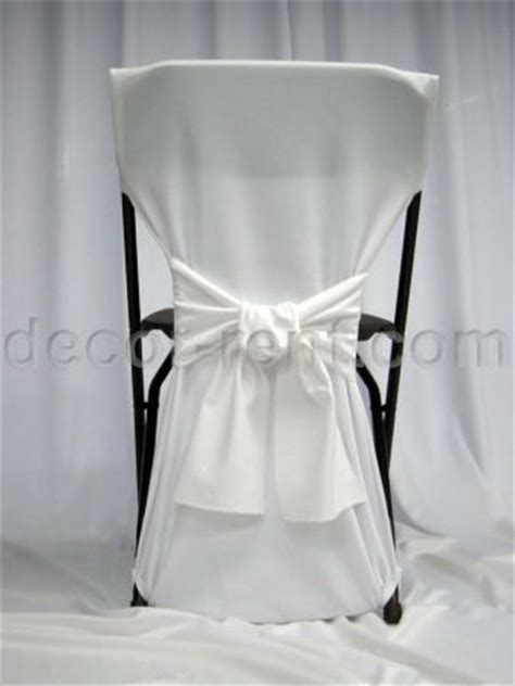 decor rent folding chair back cover white with white