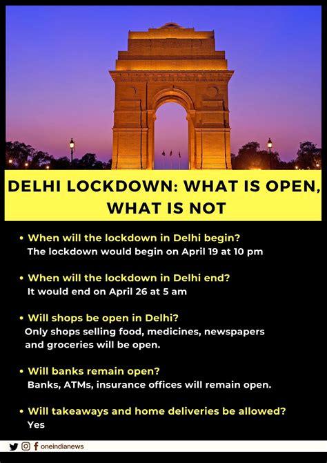 6 day lockdown starting tonight announced in Delhi ...