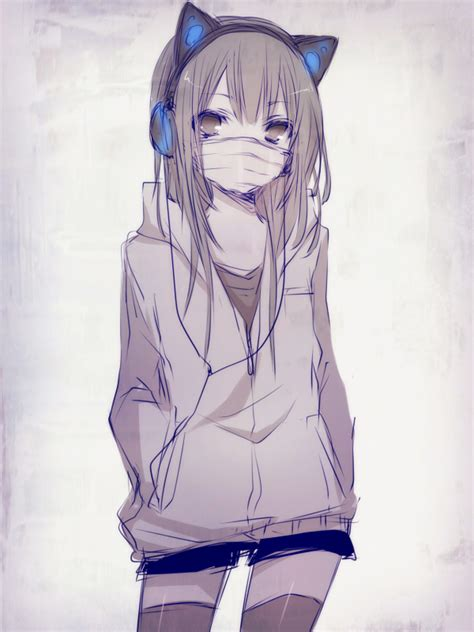 Best Anime Girl With Hoodie Ideas And Images On Bing Find What