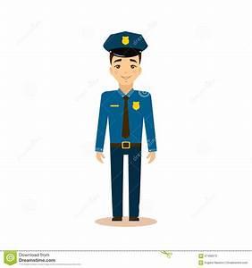 Policeman Vector Illustration. Stock Vector - Illustration ...