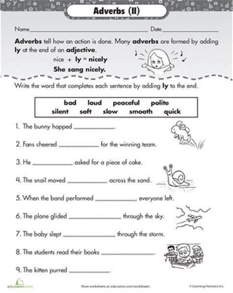 ly adverbs adverbs worksheets and language