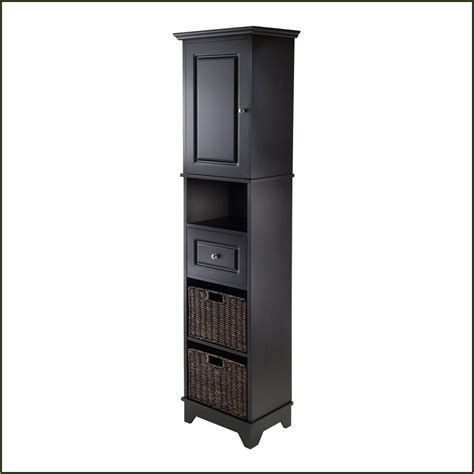 Tall Linen Cabinet With Hamper Home Design Ideas