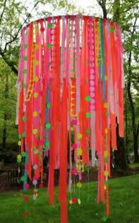 how to make a ribbon chandelier hula hoop ribbon preschool items juxtapost
